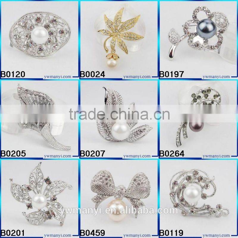 NEW style wholesale import product thailand yiwu juzhi jewelry factory wedding brooch safety pin brooch B0096