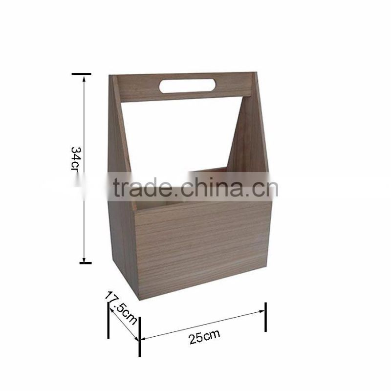 wholesale 6 bottle unfinished wine box beer carrier