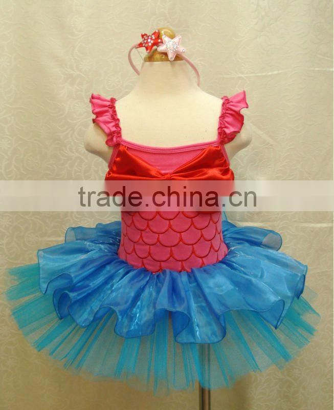 mermaid ballet tutu set