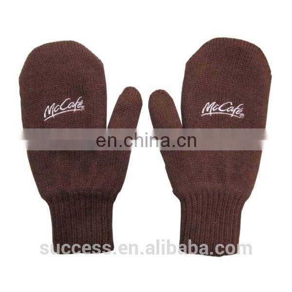 promotional acrylic knitted glove(knitted mitten)