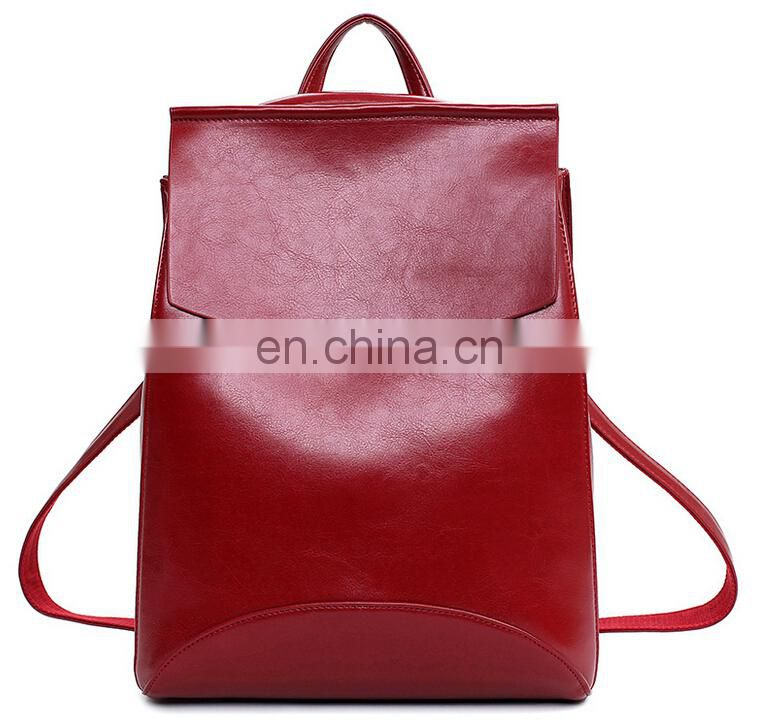 Fashion leisure backpack pu trend all-match backpack