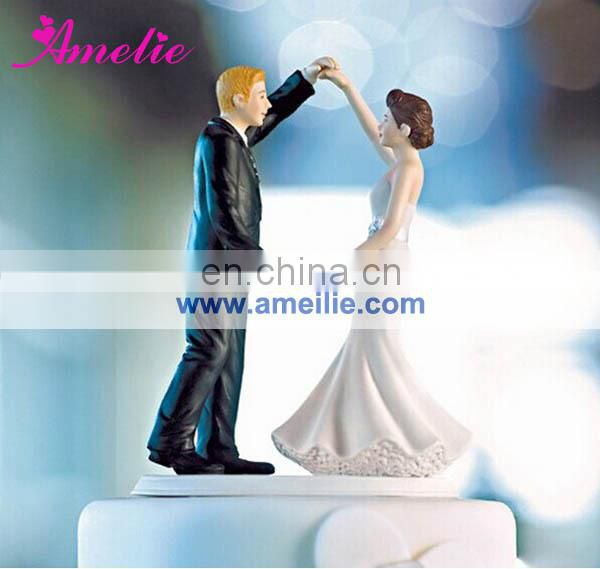 "A07375 Bride Groom ""Sweet Wedding ""Resin Cake Topper"
