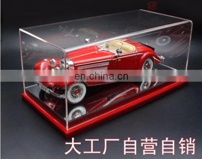 Factory custom squrae PMMA model car display box plexiglass model car display stand acrylic model car display case