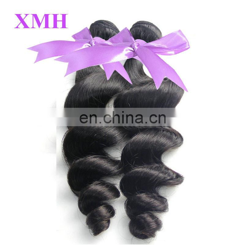 Unprocessed natural color real virgin human hair brazilian best selling hair weave