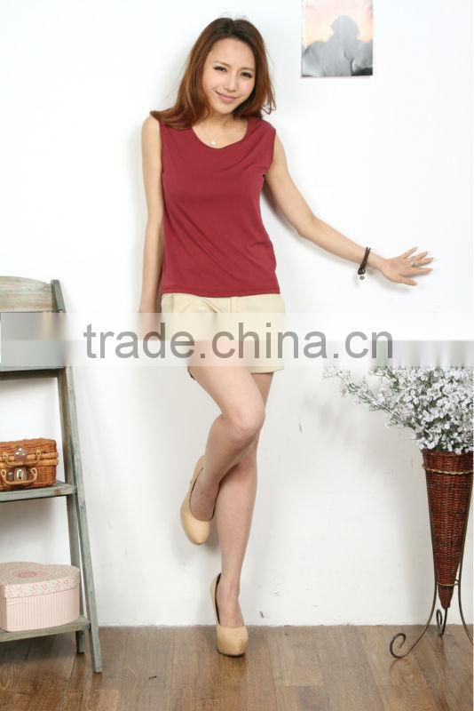 2015 hot new ladies sleeveless knitted garment