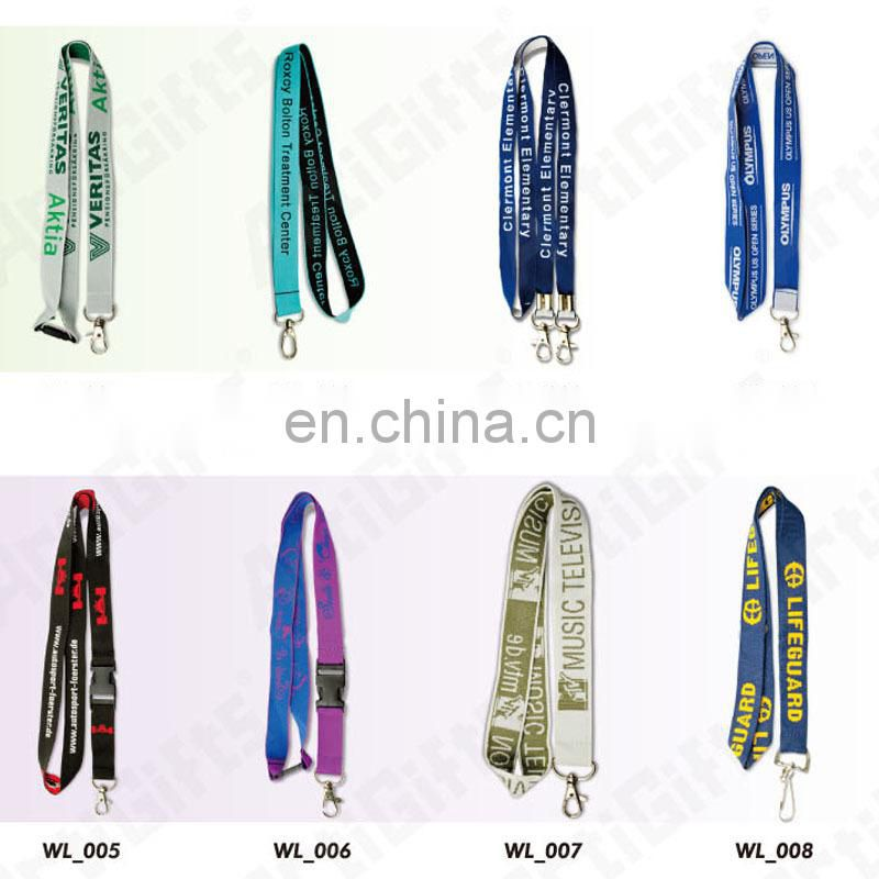 High quality cheap polyester edm lanyards