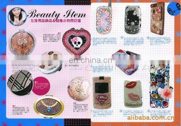 2013 cell phone bling decals mobile phone diamond sticker(zy1-8181)