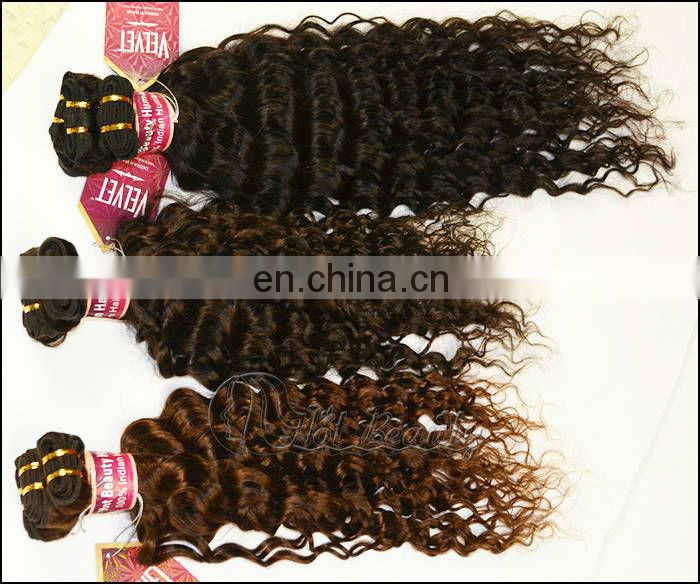 hot heads weaves light brown indian curl hair weave