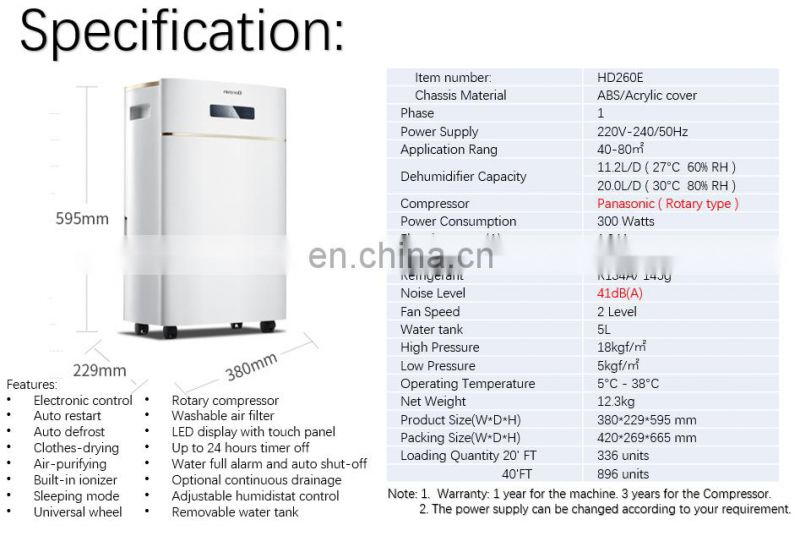 Dorosin 20liters 35pint Intelligent Electric Inerior baby room dehumidifier with Active Carbon Filter for Office and Laboratory