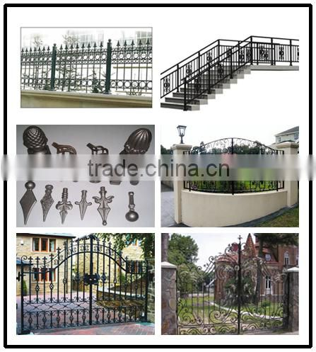 Forged/Cast Hand Forged Wrought Iron Parts, Wrought Iron Metal Ornaments For Gates/Fences/Stairs/Railings Art.8001-8010