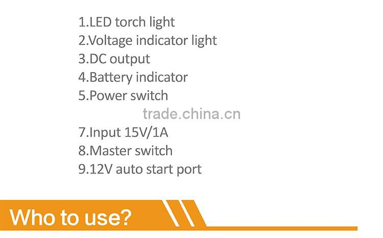 18000mah car jump starter power bank SOS lighting LED car jump start