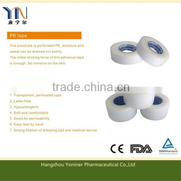 Madical device adhesive transparent PE tape