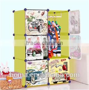 Baby plastic portable clothes wardrobe closet