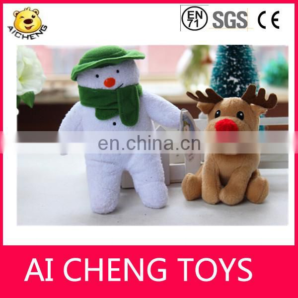 Cute plush snowman toys christmas snowman toys for promotional