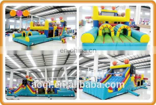 AOQI EN14960 certificate crazy fun inflatable sport games for adult and kids