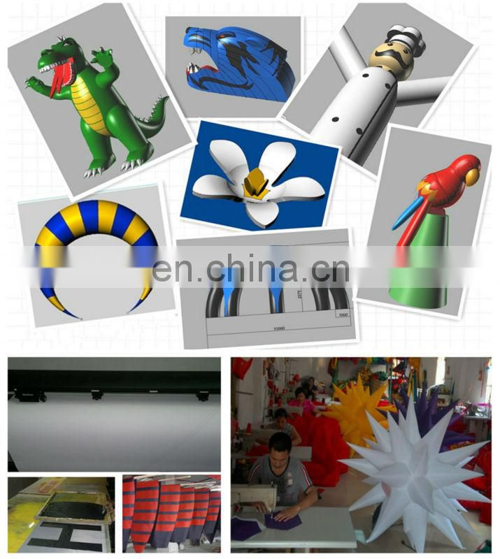 new design inflatable snake shape led balloon for decoration