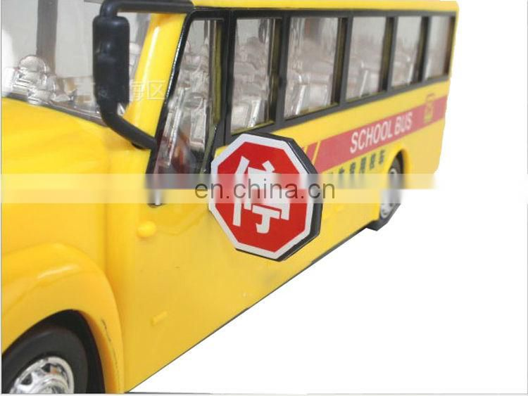 mini vehicle bus,cartoon school bus plastic toy school bus