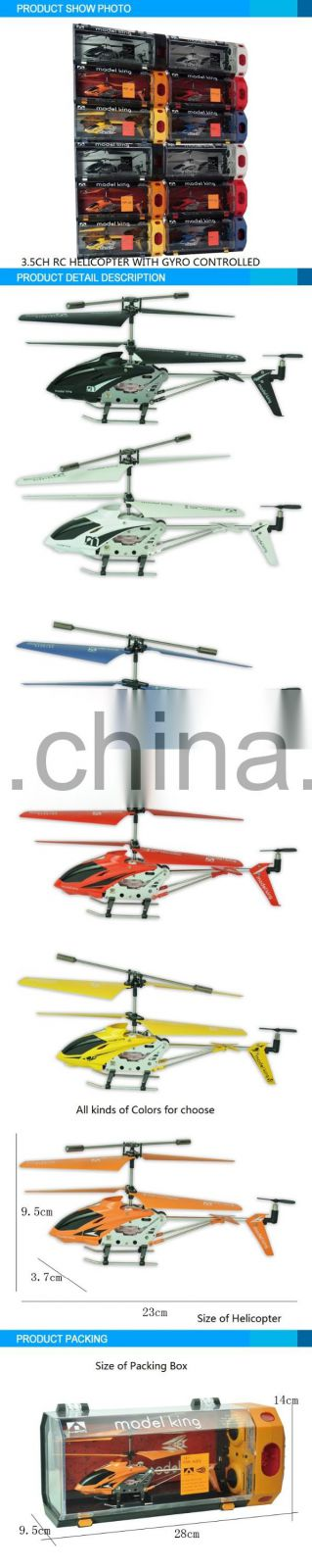 2016 Newest Series 3.5 CH RC Helicopter with Gyro controlled