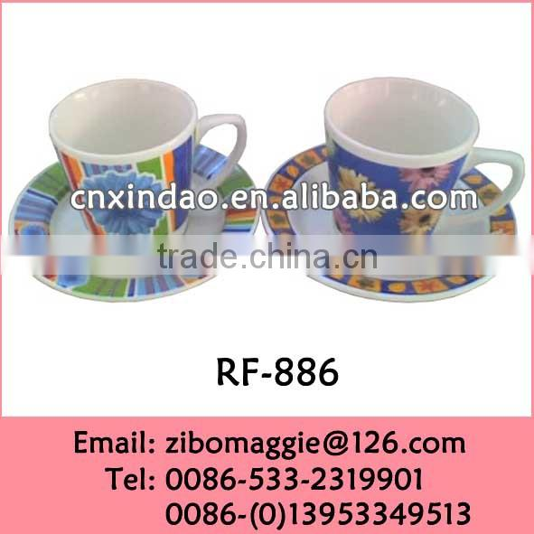 Hot Sale China Produced Mini Ceramic Wholesale Expresso Cup Saucer for Coffee Shop