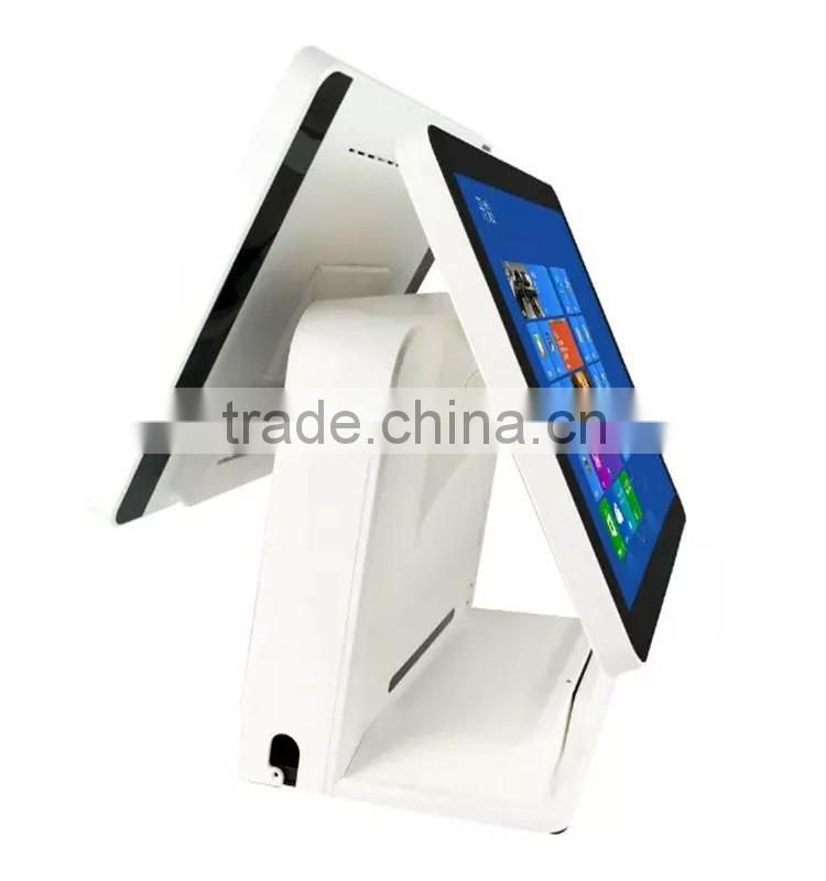 15 inch touch screen pos terminal system can be connect with a cash drawer all in one pos system (Gc066)