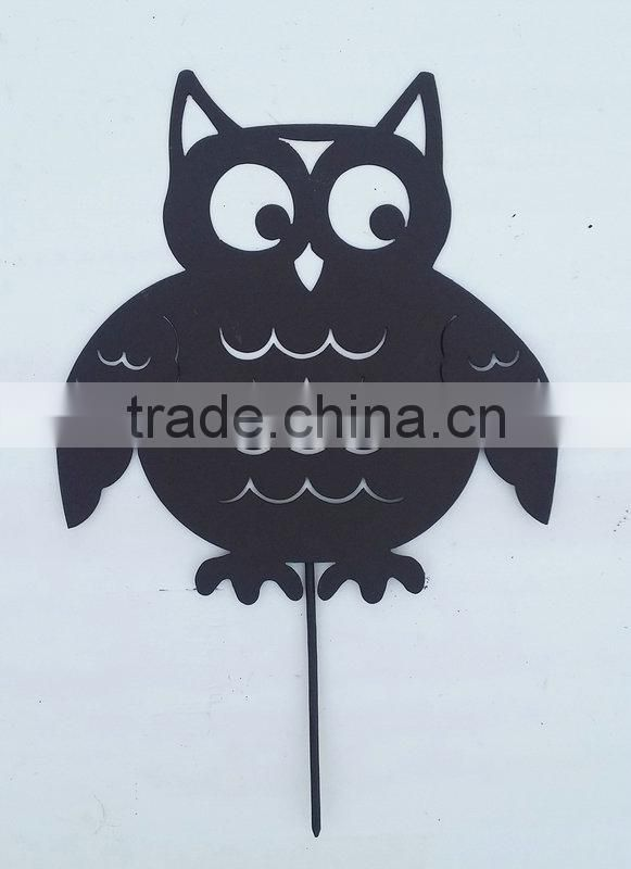 Garden stake with owl decoration