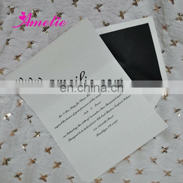 A018 New Arrival Rose Flower Design wedding invitation cards models