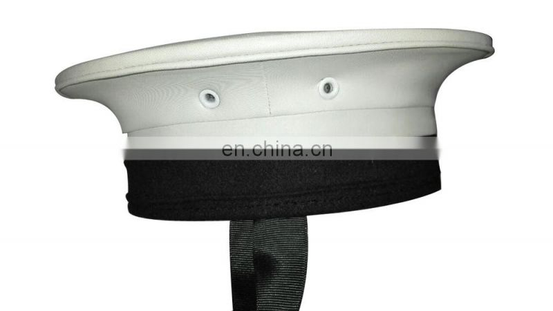 white PVC seaman/sailor hat without visor
