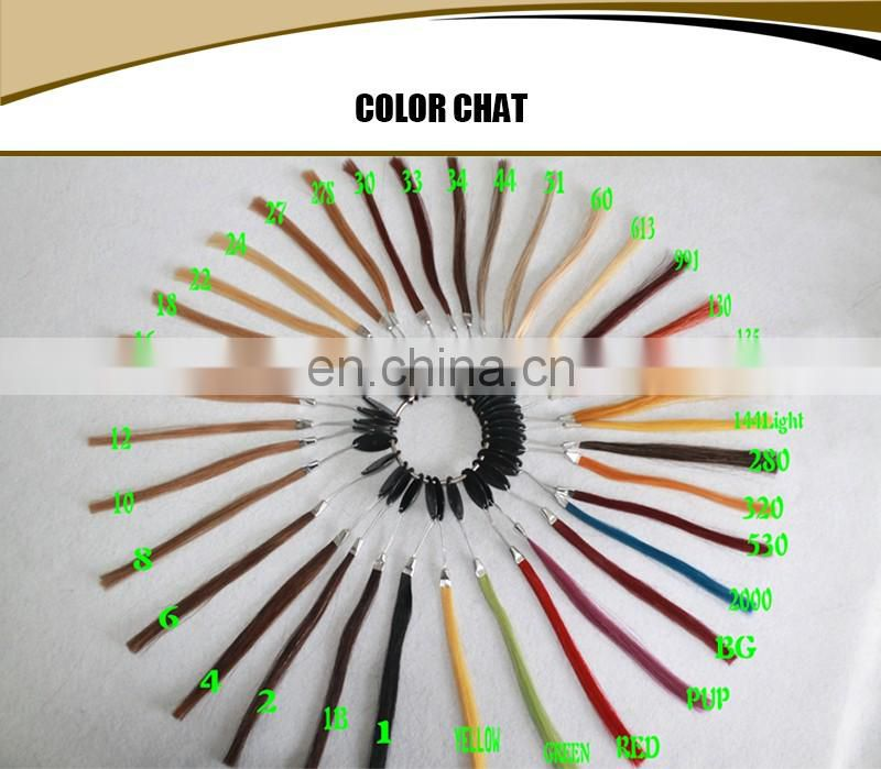 Unprocessed virgin russian human hair weaving natural blonde color silky straight hair extension