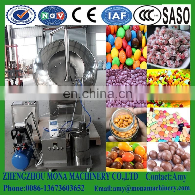 Professional peanut nut sugar coating pan machine chocolate coating pan machine with cool air