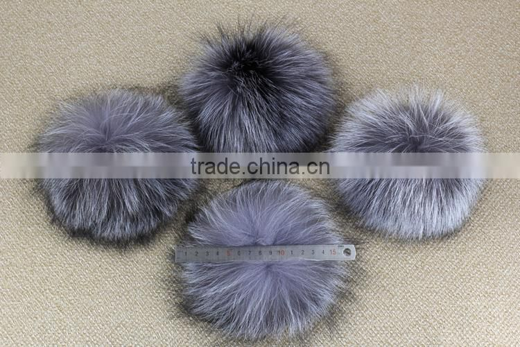 puffs fox fur ball wool cotton hats knitted beanie real fox furry pom pom bomber hats bonnet crochet large fluffy ball hats