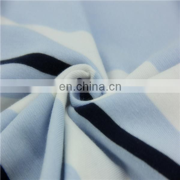 57% Cotton 38%ployester 5% Spandex single jersey knit fabric for textile