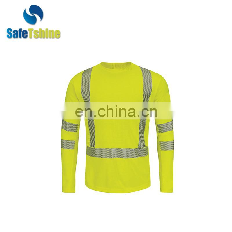 High quality solid stripe flame resistant tshirt printing
