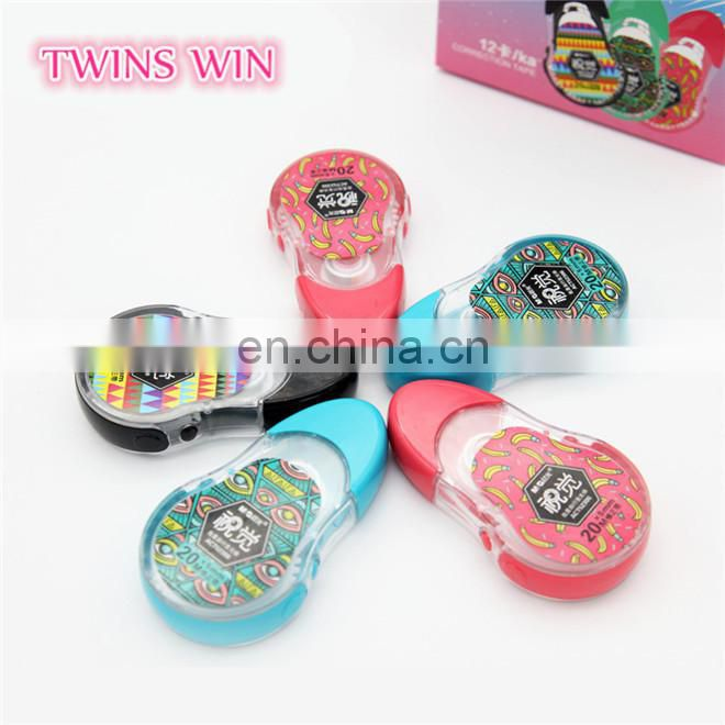 China market brand name office and school stationery wholesale 2018 newest cheapest colored correction tape
