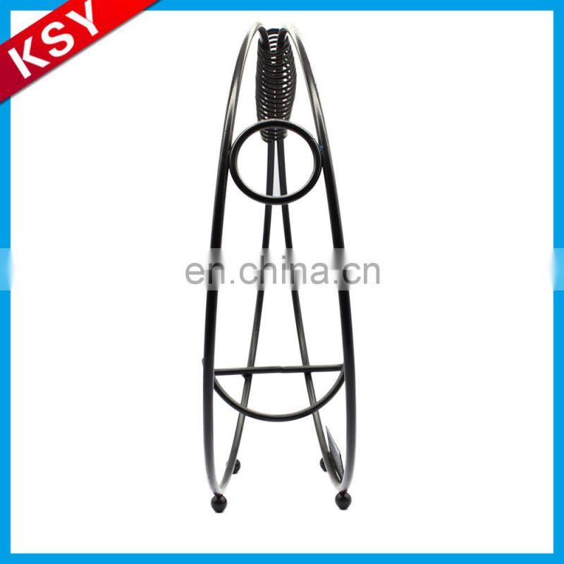 New Factory Promotion Price Decorative Wall Mounted Hanging Bottle Metal Iron Wine Rack