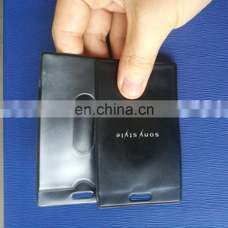 Customized soft pvc bus card protect cover with slot