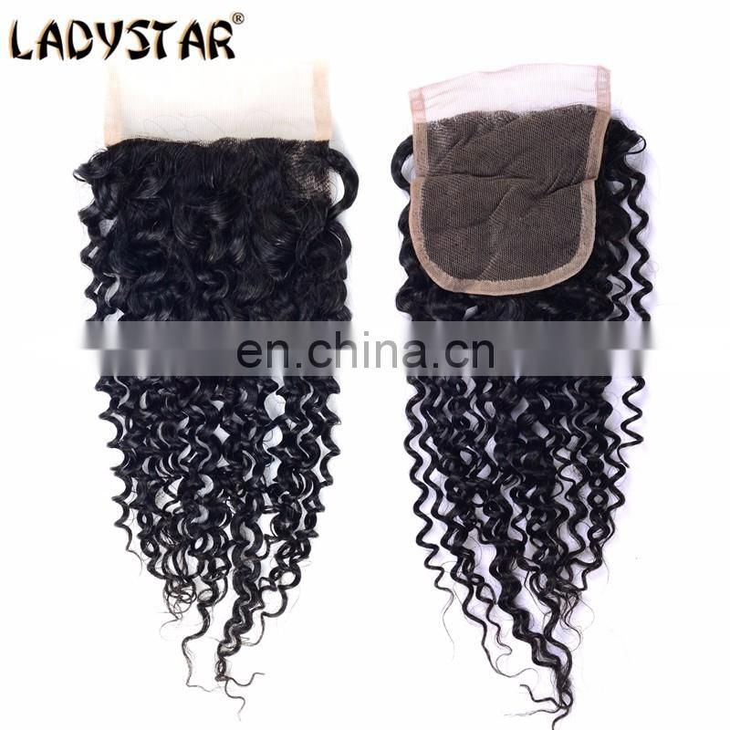 cheap lace closre 100% human hair 4*4 lace closure curly lace closure