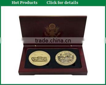 2015 Fancy Wooden Gold coin Display Box for gift