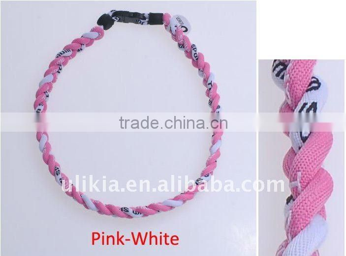 Germanium Titanium Tornado custom 3 ropes braid Sport Necklaces