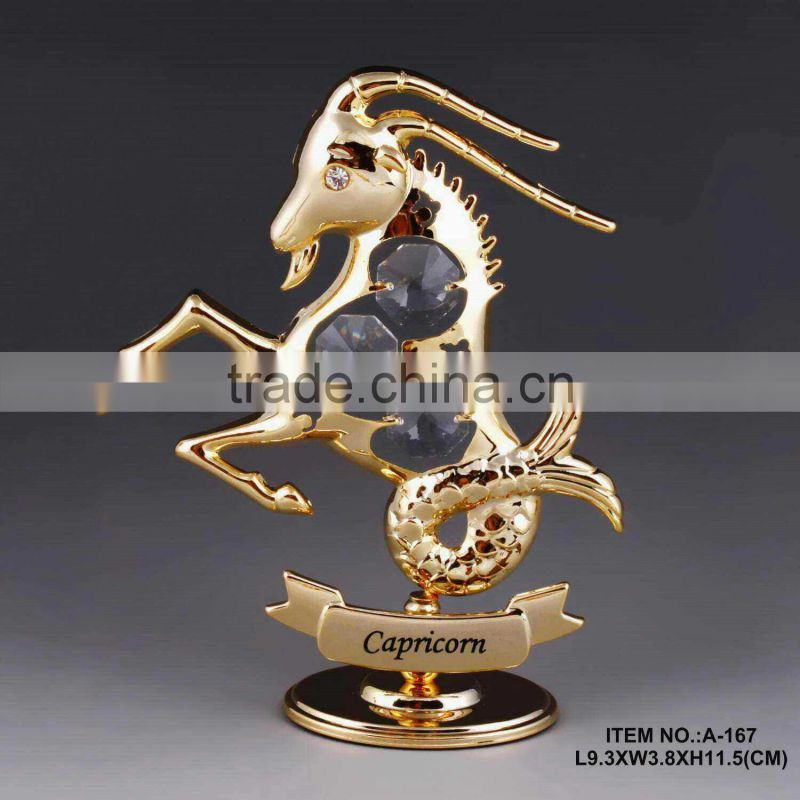 Hot sale 24K gold plated zodiac cancer decoration