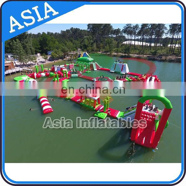 On sea aquapark inflatable water park , water amusement park playground