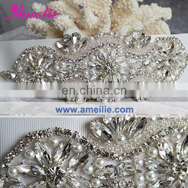 Rhinestone Crystal Wedding Sash Applique