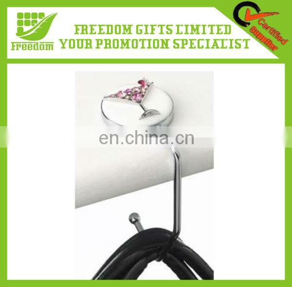 Promotional Folding Cheap Metal Bag Hook Handbag Hanger
