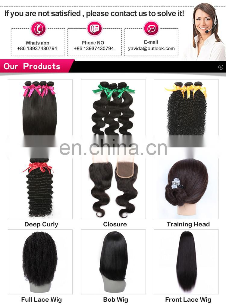 Fashionable patterns& beautiful in colors product virgin human brazilian remy hair weave