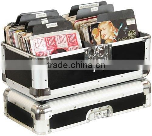 Aluminum LP Storage Carrying Case,Silver Aluminum Storage box,Case Type and Aluminum Material Utility/Record Storage Case