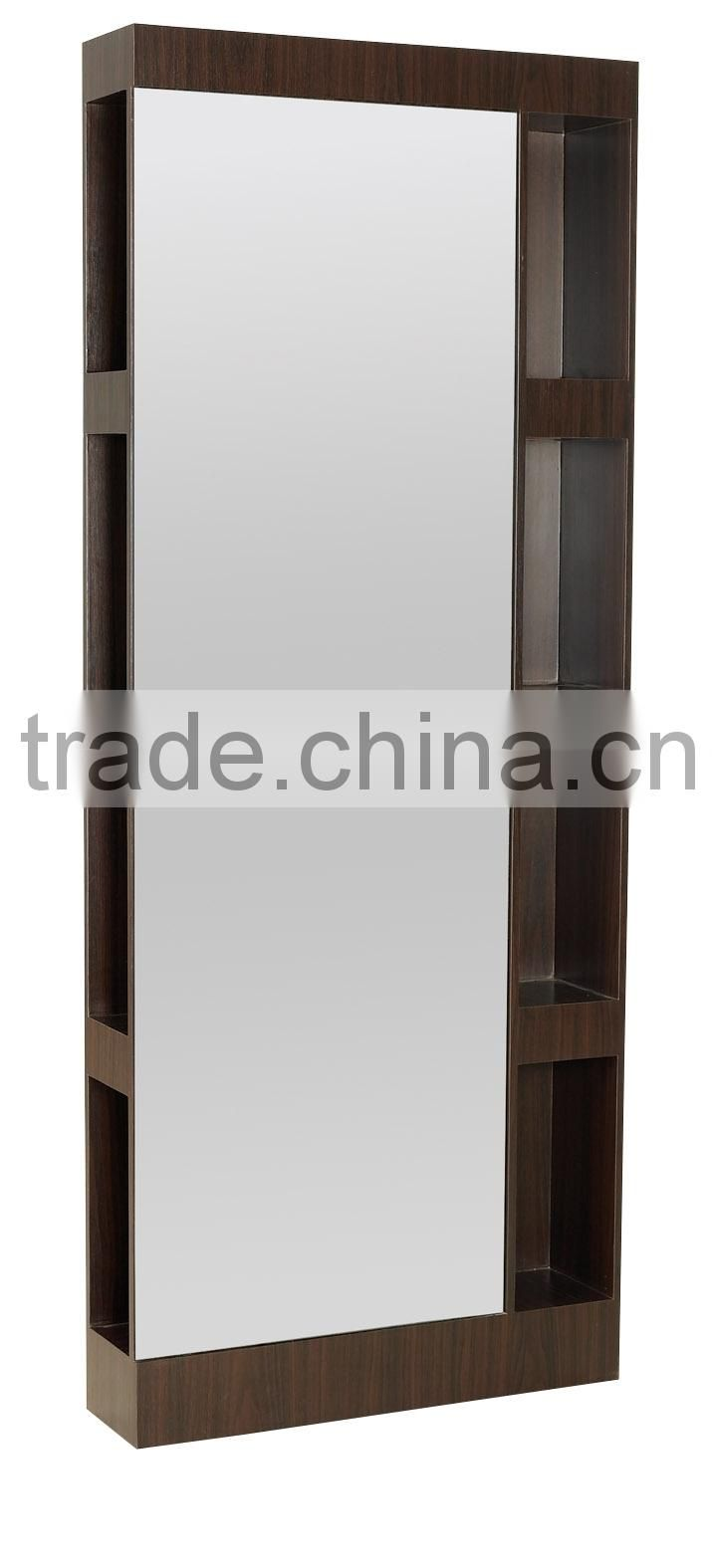 2015 New style newest fancy wood wall mirrors for salon design