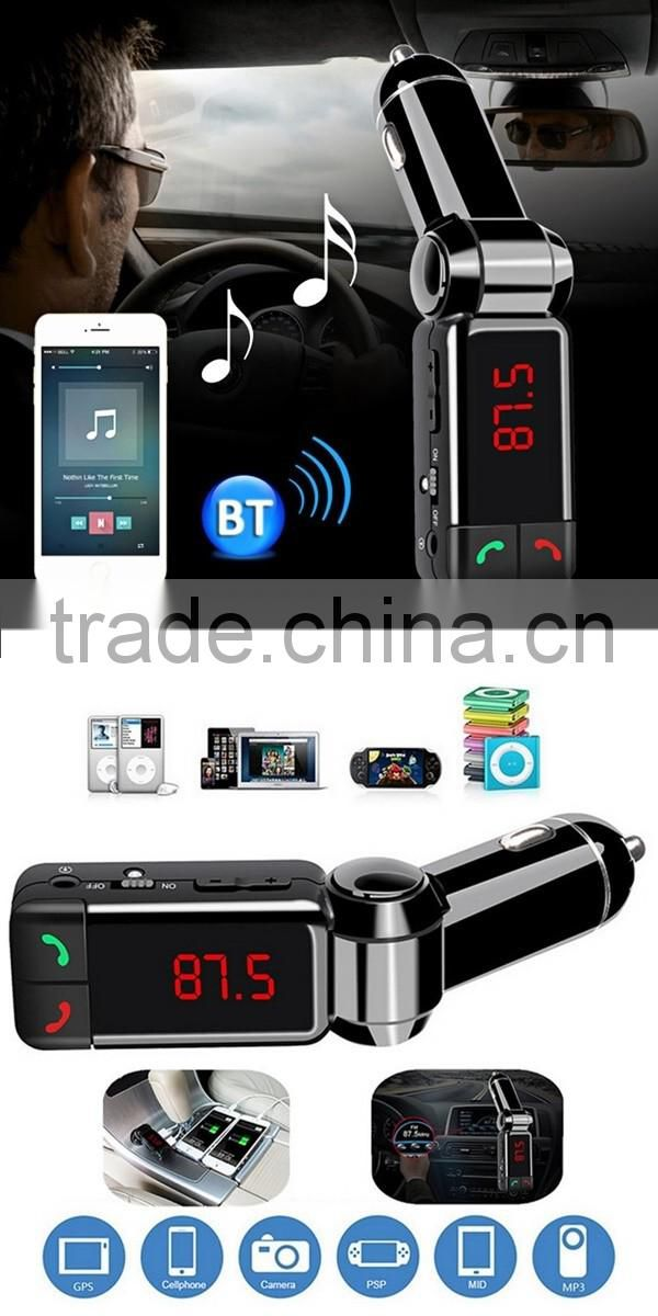 LCD Display TF card Car MP3 Audio Player Bluetooth FM Modulator USB Charger for iPhone Samsung