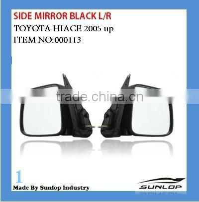for toyota body parts hiace side mirror black car side mirror for Toyota Hiace 2005 up hiace 200 KDH 200 commuter quantum