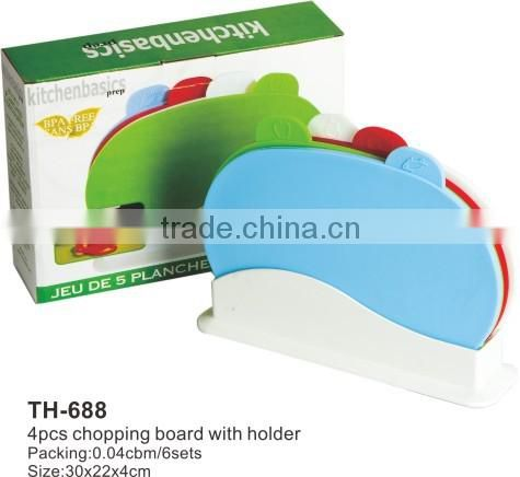 As Seen On TV Cutting Board Set 4pcs Index Chopping Board With Stand