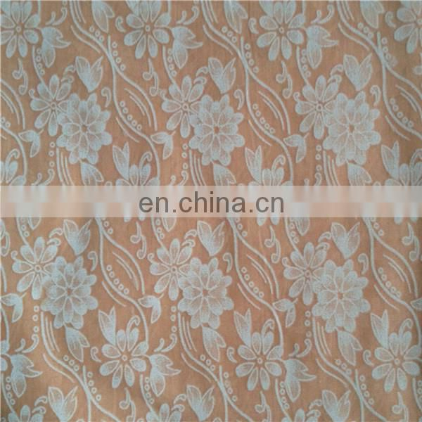 burnt out print fabric / burnout fabric for fashion