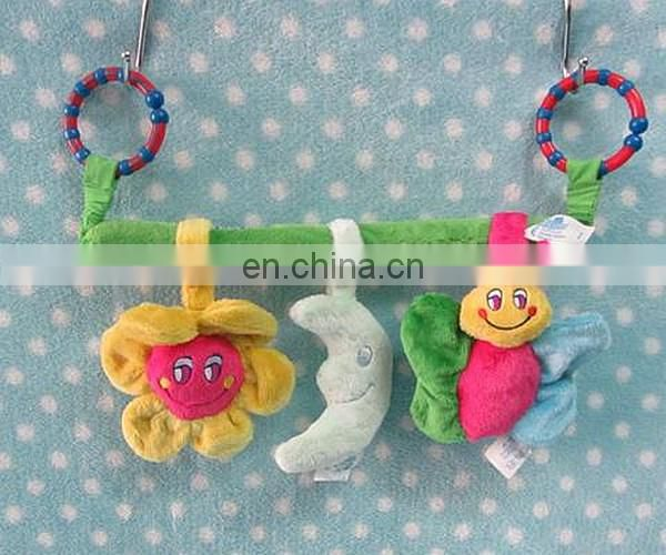 baby fans multifuctional hanging bed bell plush toy 3pc